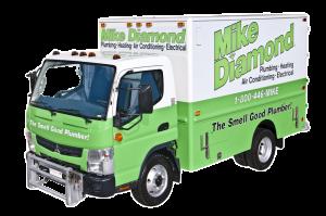 mike diamond plumbing truck