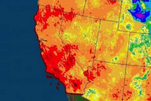 Drought Map of the Western United States.