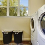 A checklist for new homeowners to go through in the laundry room.