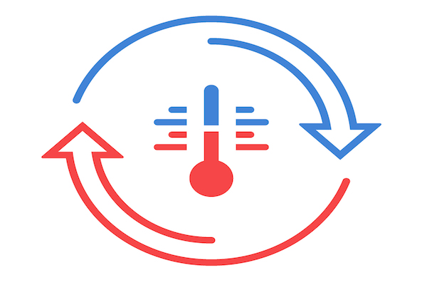 Graphic of cyclical heat exchange