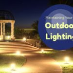 """well-lit outdoor area with gazebo at night. """"Maintaining your outdoor lighting"""""""