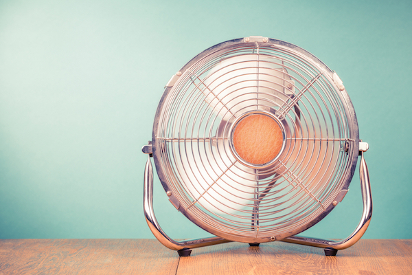 Bring portable fans from room to room to keep cool