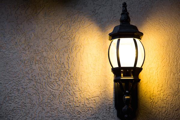 outdoor light fixture on wall