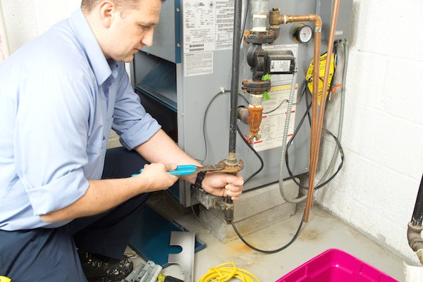 Plumbing technicians can help with gas repairs