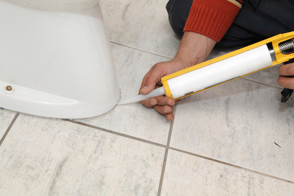 Your plumber recommends you keep bathroom caulk around