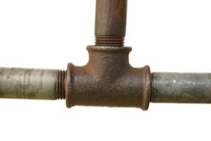 damage inside pipes may block water flow through a sink drain