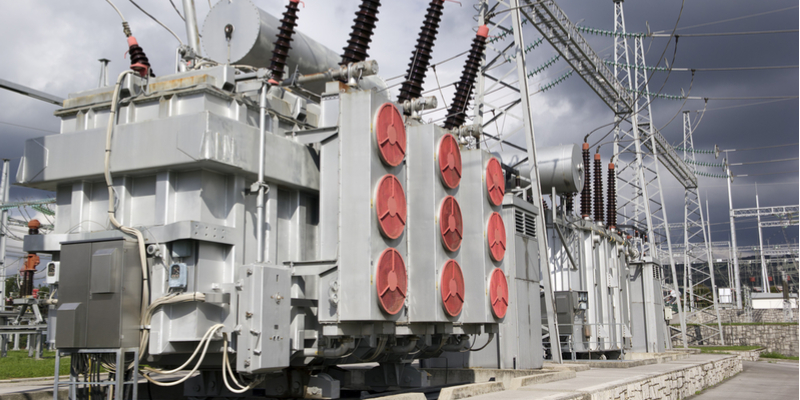 electrical transmission substation transformer