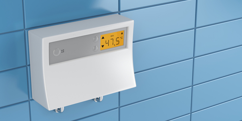 Tankless water heater thermostat