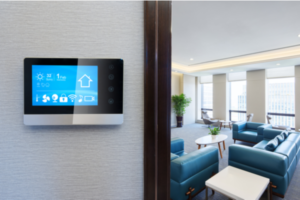 Smart thermostat in a home