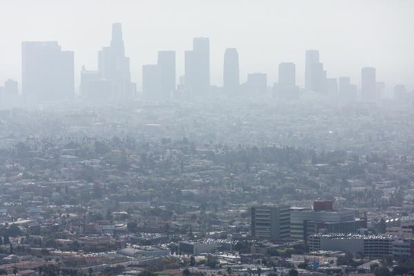 LA air quality in winter