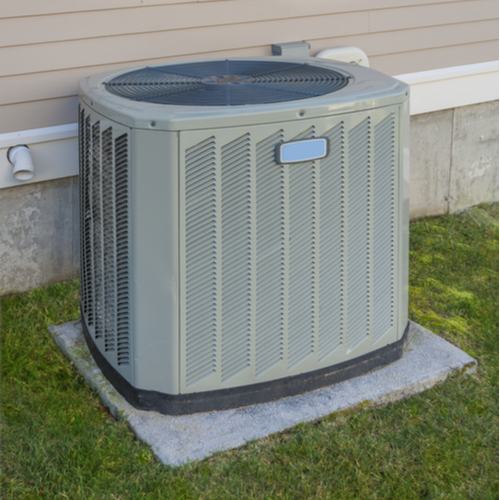 An air conditioning unit outside the home.